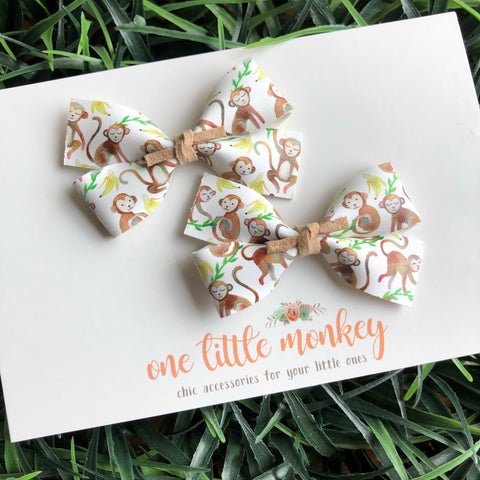 One Little Monkey GILLIE - Set of 2 Piggy Clips