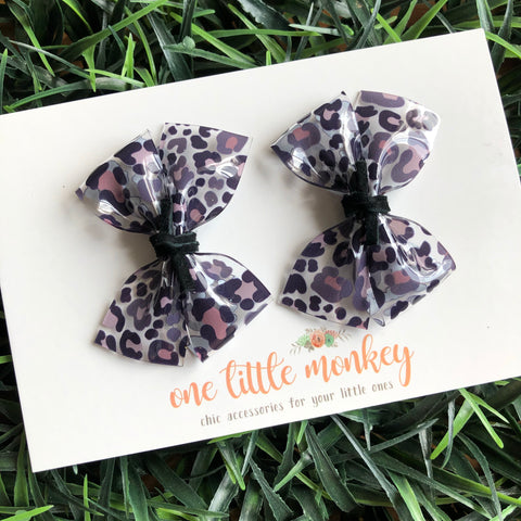 Cool Cat Jelly RAEGAN Bows - Set of 2 Piggy Clips