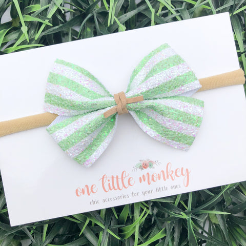 Lime Stripe KENNEDY Bow