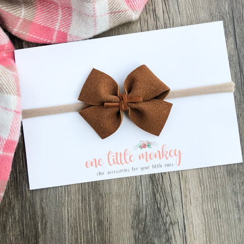 Chestnut Suede RAEGAN Bow