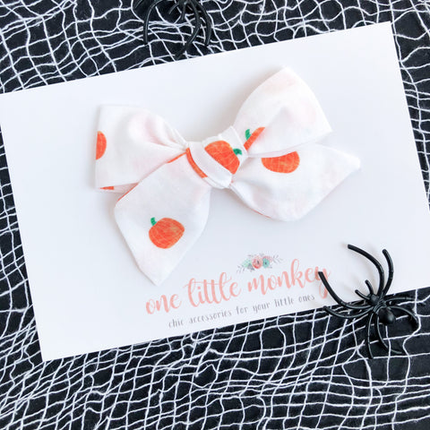 Pumpkin Patch Hand-Tied NORAH Bow
