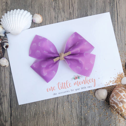 Purple Seashell Jelly KENNEDY Bow