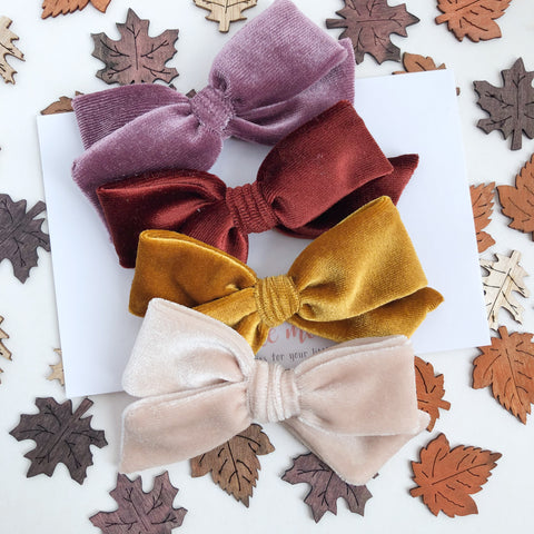 FALL20 Velvet Hand-Tied NORAH Bow - Choose Your Color!