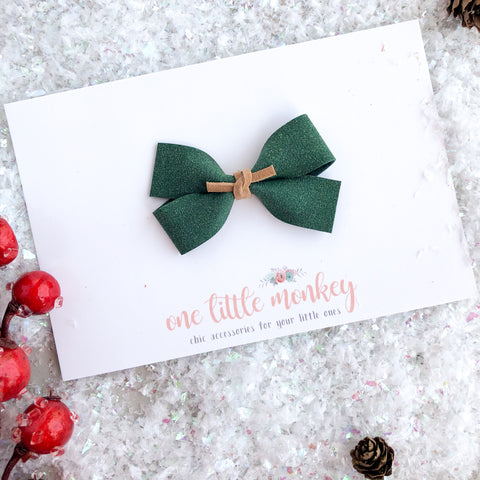 Evergreen Suede GILLIE Bow