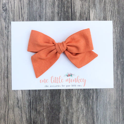 Pumpkin Hand-Tied NORAH Bow
