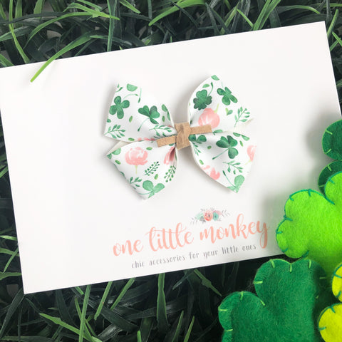 Shamrocks + Floral RAEGAN Bow