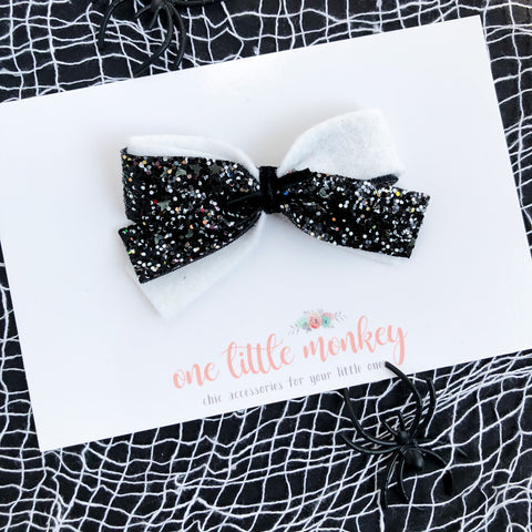 Into the Night GLAM DOROTHY Bow - Glows in the Dark!