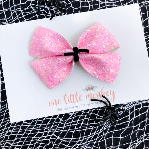 Pink Stars KENNEDY Bow - Glow in the Dark