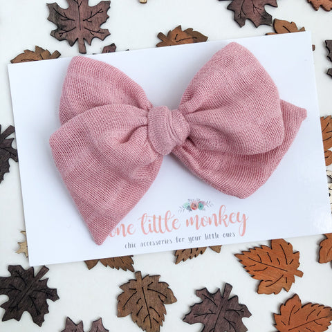 Rose Gauze Hand-Tied MADISON Bow