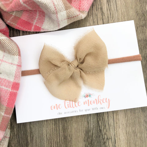 Taupe BITTY CORDELIA Bow Headband