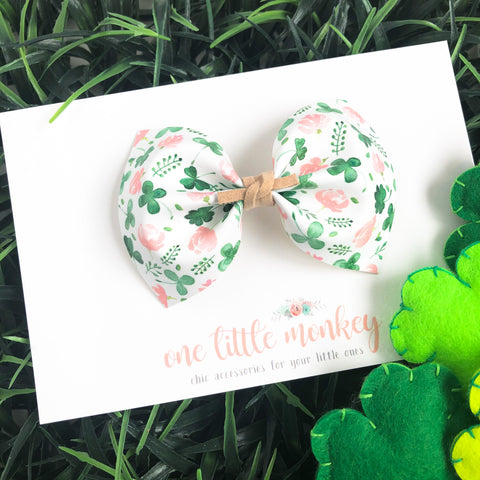 Shamrocks + Floral MILLIE Bow