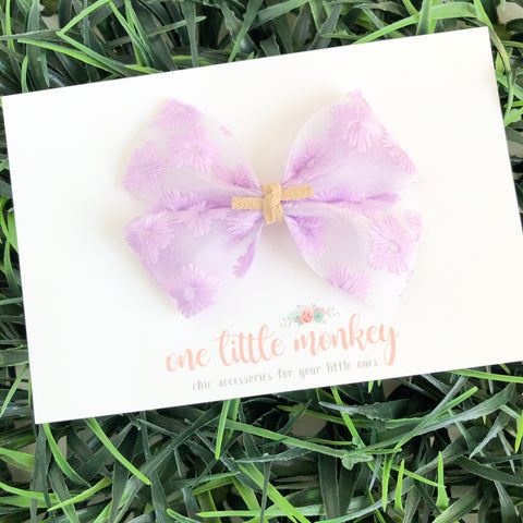 Lavender Embroidered Jelly KENNEDY Bow