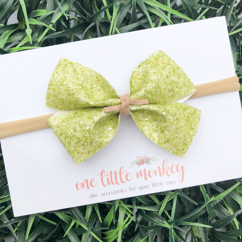 Sour Apple Glitter KENNEDY Bow