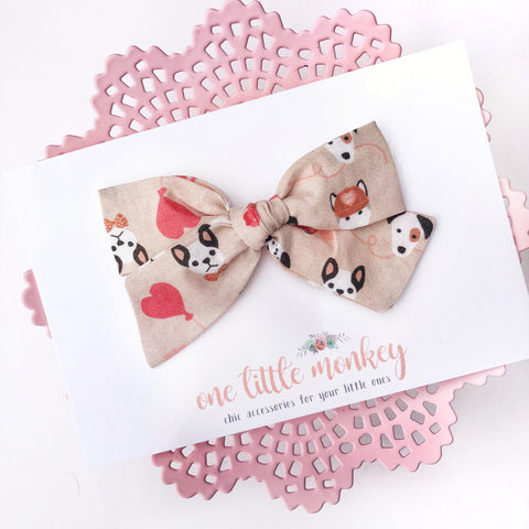 Puppy Love Hand-Tied NORAH Bow