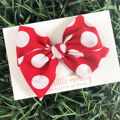 Red Dot Hand-Tied MADISON Bow