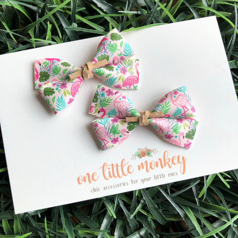 Flamingos GILLIE - Set of 2 Piggy Clips