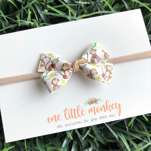 One Little Monkey GILLIE Bow