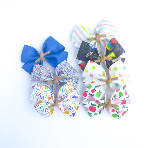 School Days RAEGAN Bow - Choose Your Pattern!