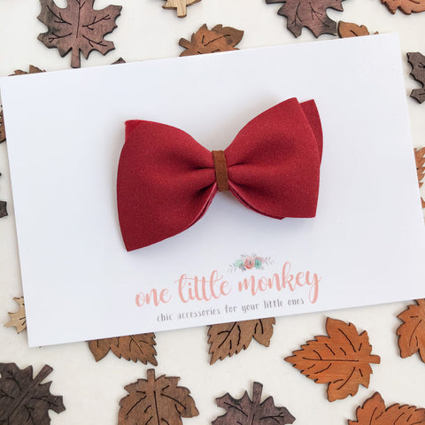 Berry Suede ELLE Bow