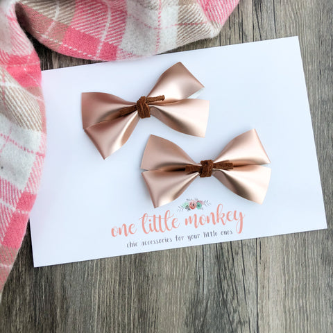 Matte Rose Gold GILLIE - Set of 2 Piggy Clips