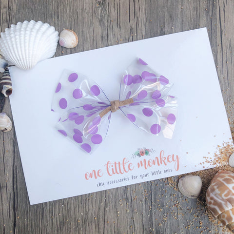 Purple Dot Jelly KENNEDY Bow