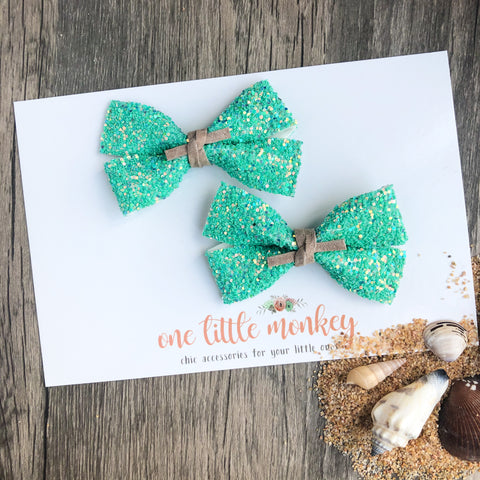 Seaside Glitter GILLIE - Set of 2 Piggy Clips