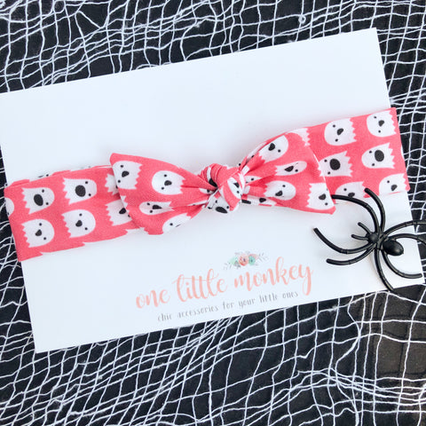 Pink Ghouls RETRO KNOT Headband