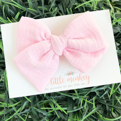 Pink Gauze Hand-Tied MADISON Bow