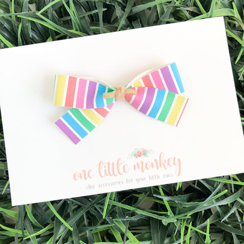 Candy Stripe DOROTHY Bow