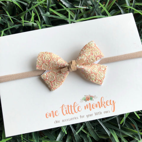 Honeycomb Glitter GILLIE Bow