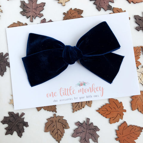 Navy Chunky WILLOW Bow