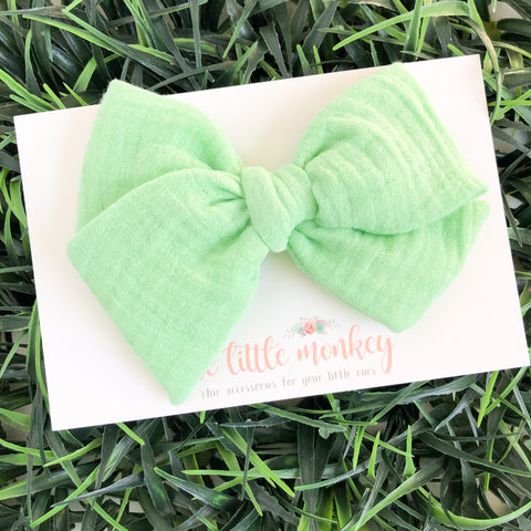 Mint Gauze Hand-Tied MADISON Bow