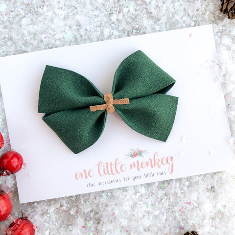 Evergreen Suede KENNEDY Bow