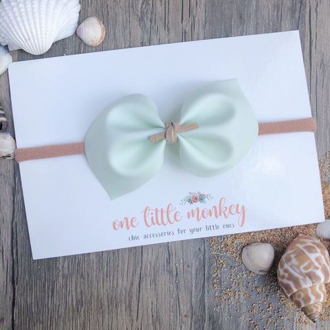 Mint Jelly DARCY Bow