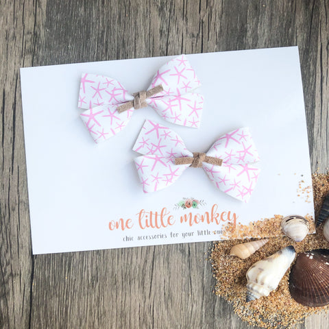 Starfish GILLIE - Set of 2 Piggy Clips
