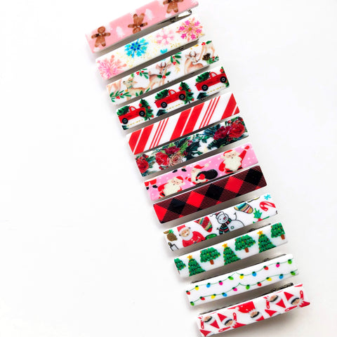 Holiday Magic Acrylic SKINNY Clips