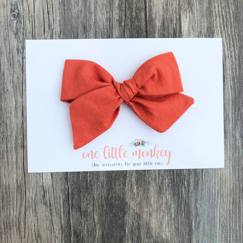 Terracotta Hand-Tied NORAH Bow
