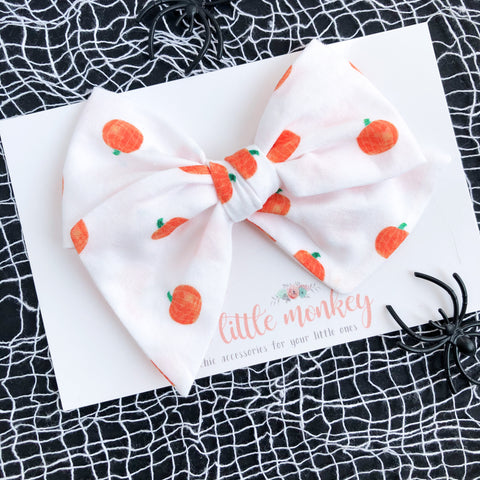 Pumpkin Patch Hand-Tied MADISON Bow