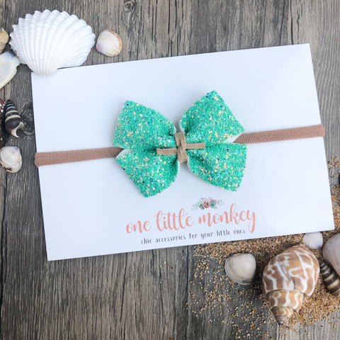 Seaside Glitter RAEGAN Bow