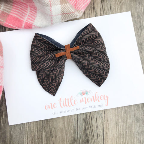 Bewitching Brown PENNY Bow