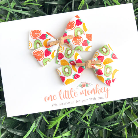 GILLIE - Set of 2 Piggy Clips - Fruit Cocktail