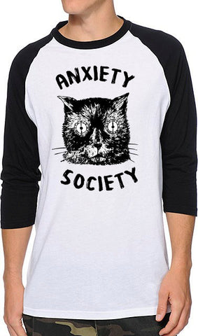 Anxiety Society RAGLAN