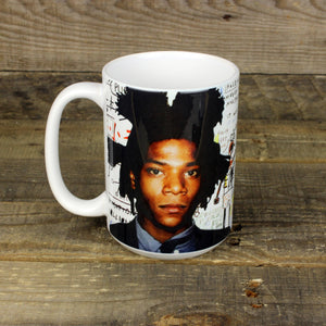 Basquiat SAMO MUG  | art lover Warhol Bowie Jean-Michel post-punk street art graffiti Legend manhattan TV Party gifts for museum shops Hero