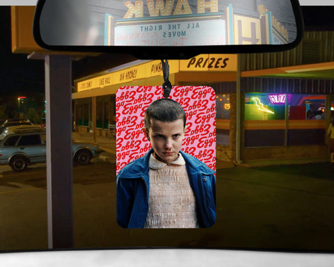 Stranger Things Eleven car Air Freshener Eggo maple syrup scented