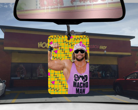Macho Man car Air Freshener WWF wrestling wrestler scented