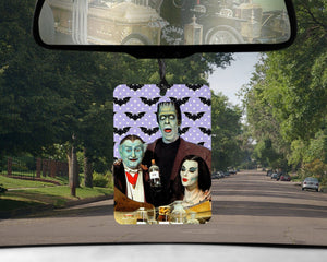 Munsters car Air Freshener  | Lily Munster Herman and Grandpa scented gifts for goths Girlfriend gifts Boyfriend easter baskets pastel goth