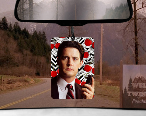 Twin Peaks car Air Freshener  | Agent Dale Cooper scented gifts for him Boyfriend her Girlfriend gifts Cherry Pie scent