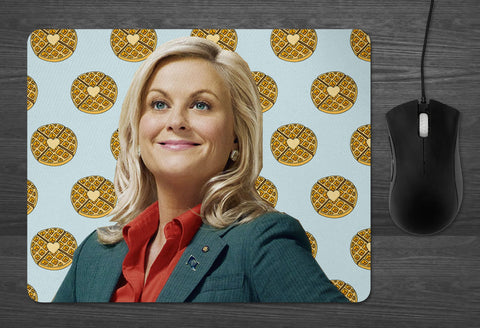 Leslie Knope Mouse pad  | Dab Mat Parks and Recreation Waffles tv show gifts for galentines Pawnee Feminist