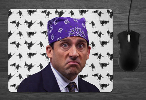 Prison Mike the Office Mouse Pad  | Dab Mat Michael Scott Dementors best boss ever Dunder Mifflin tv show gifts for silly people