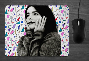 Bjork Mouse Pad  | dab mat Sugarcubes 80s POP punk Iceland dancer in the dark gifts for her Girlfriend Gifts